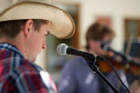 Busking at the Central Coast Country Music Festival