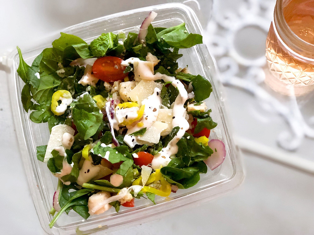 Small salad with lots of veggies is power packed with nutrition
