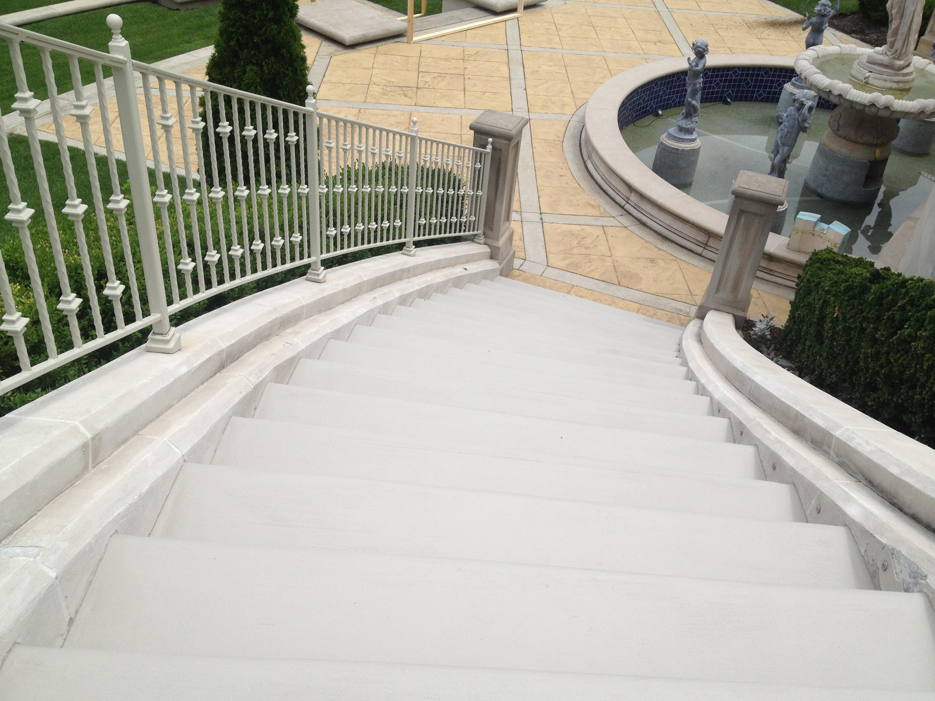 concrete step refurbish