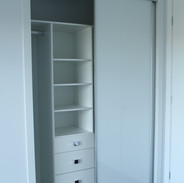 White glass doors with Slimline trim
