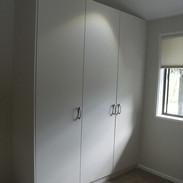 White melamine hinged doors