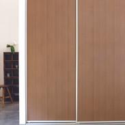 Flush panel timbergrain doors