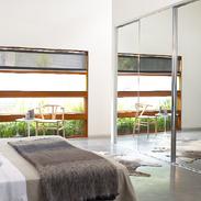 Full Mirror doors with Bright Chrome Slimline frame