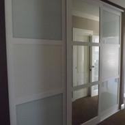 Hiro look doors with blue  glass & cream
