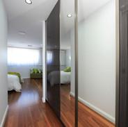 Hinged Flush woodgrain doors with 2 cent