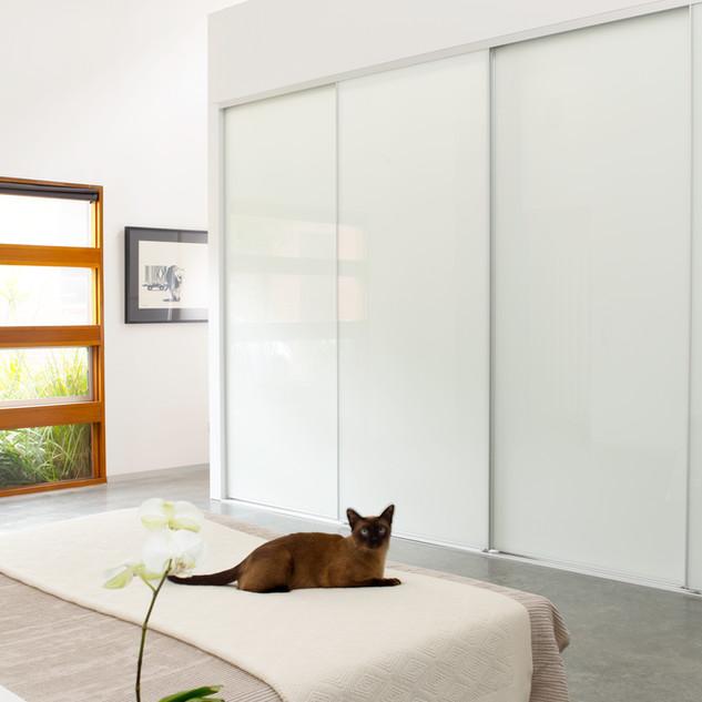 Standard white doors with slimline frames