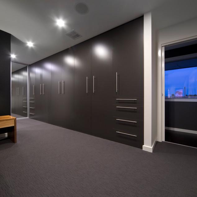 Grey melamine doors