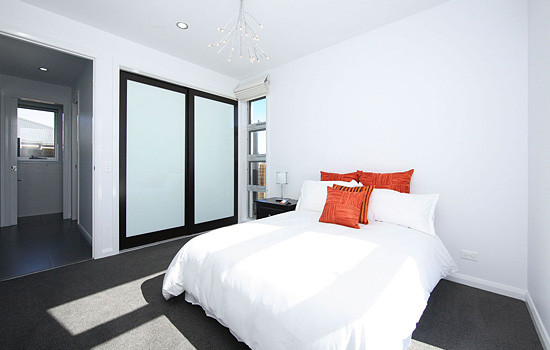 Frameless Painted Doors with Glass insets