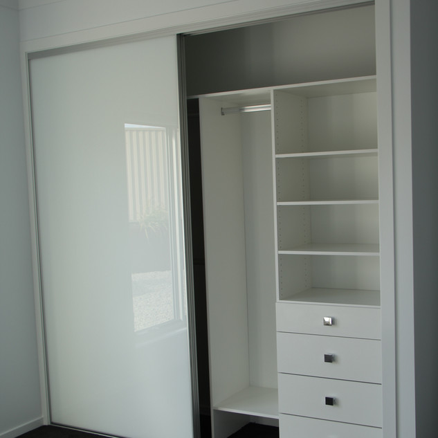 White glass doors & internals