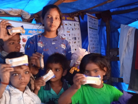 Happy Bar and kids in slums