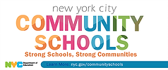 DOE Community Schools logo banner