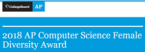 AP Computer Science award banner