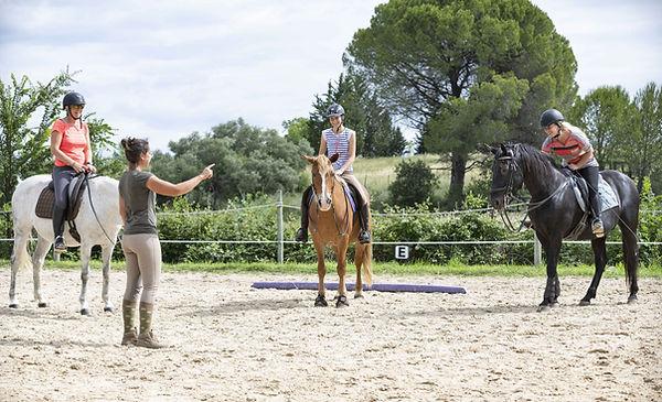 cours d'équitation en carrière | Club Hippique du Quercy