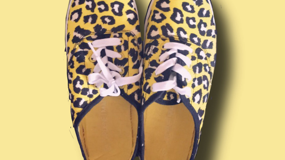 YELLOW CHEETAH PRINT SNEAKERS