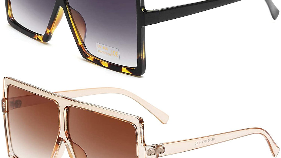 Square Oversized Sunglasses With Frame