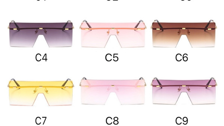 Square Oversized Sunglasses Without Frame
