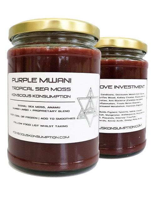 Purple Mwani Sea Moss Blend (Tropical Formula)