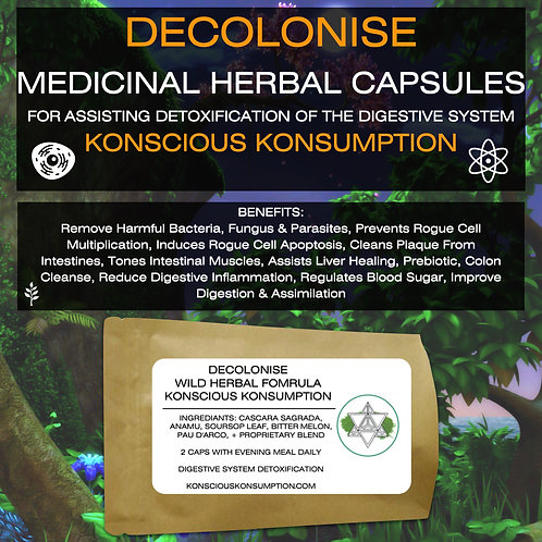 DECOLONISE Herbal Capsules (Parasite Cleanse)