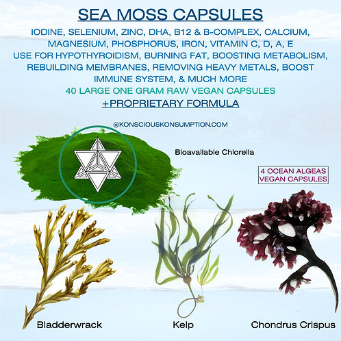 Sea Moss Capsules (4 Herb Compound)  + FREE DETOX GUIDE