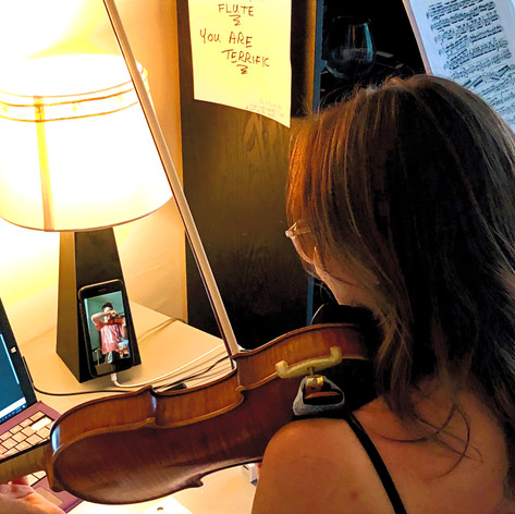 Online Violin Lesson with Ms. Celine