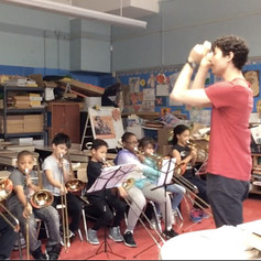 Group Trombone Class with Mr. Karl