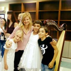 Post recital hug