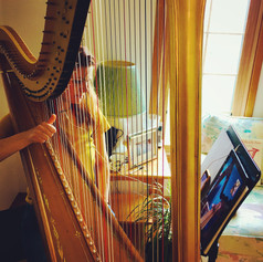 Online Harp Lesson with Ms. Tomina