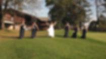 bridesmaids marching