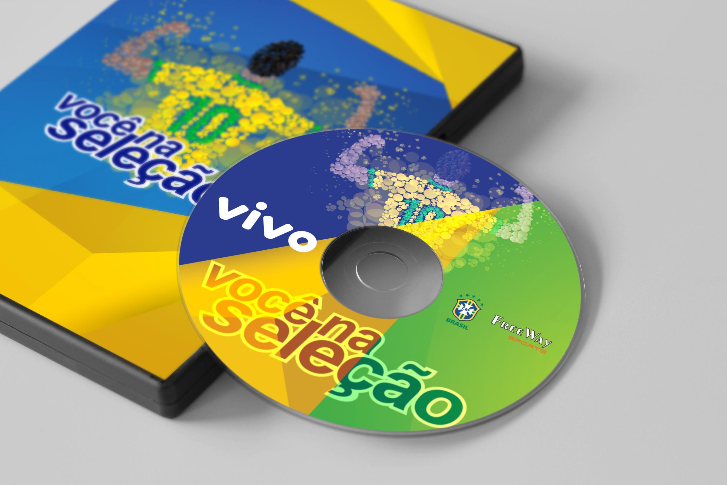 Capa DVD e Rótulo - Você na Seleção