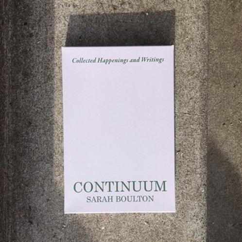 Continuum by Sarah Boulton