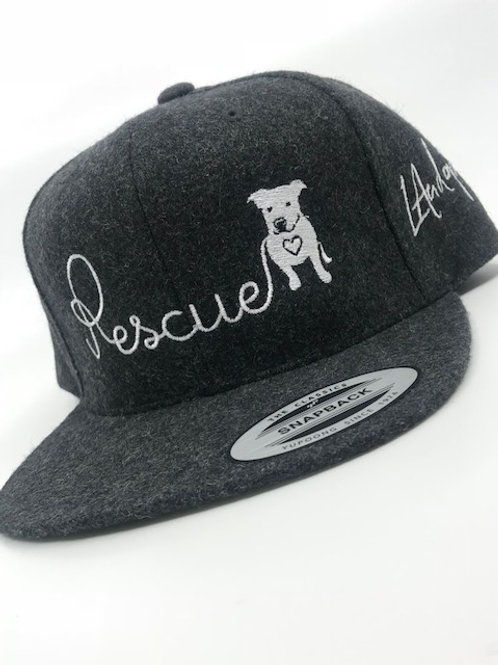 Rescue Leash Embroidery snapback