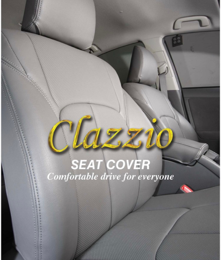 Clazzio 200211blkk Black Leather Front Row Seat Cover for Toyota Camry L//LE//XLE