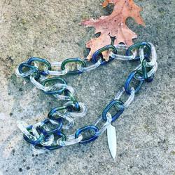 peacock blue chain