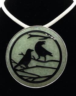 Sandblasted Bird Pendant