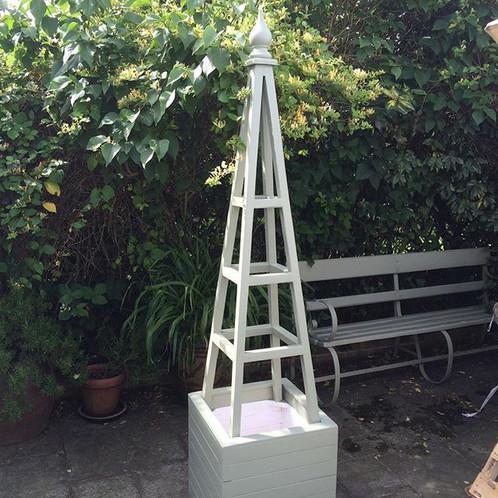 4ft Wooden Garden Obelisk Planter