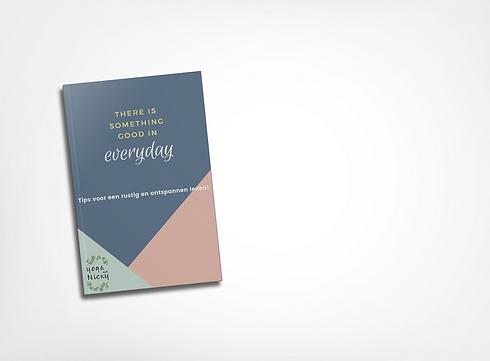E-boek cover in een boek - yoga met nick