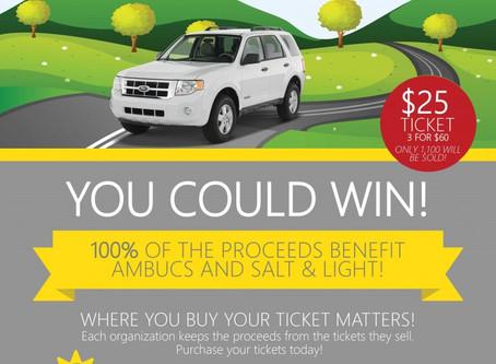 Car Raffle Tickets-Salt and Light/AMBUCS Fundraiser!
