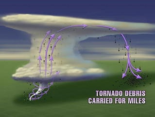 Tornado safety in a vehicle