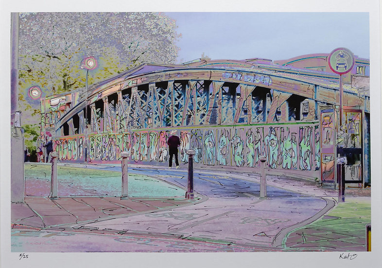 Chalk Farm Bridge (Photosketch)