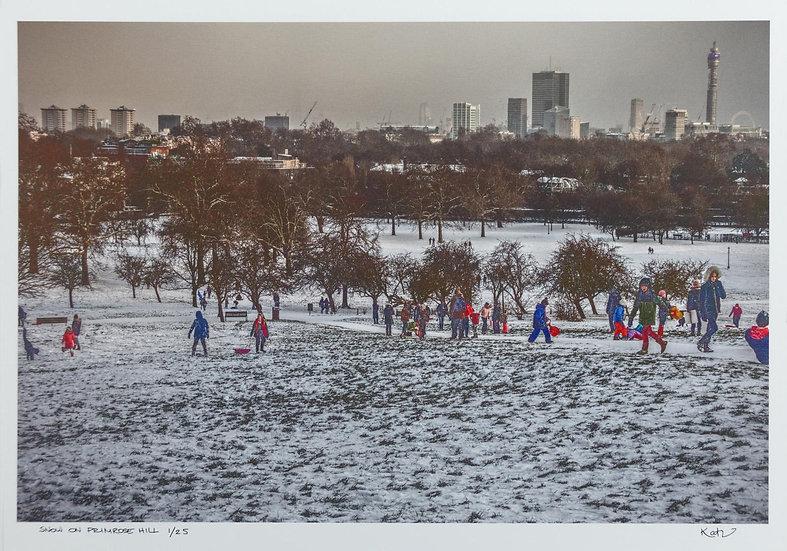 Snow on Primrose Hill