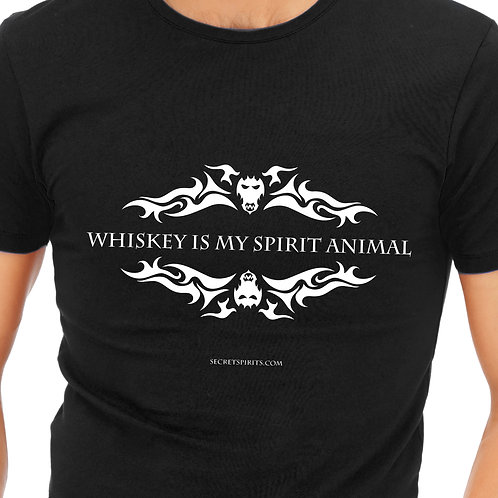 "T-Shirt ""Whiskey is my Spirit Animal"""