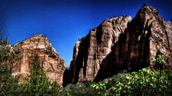 Zion During Full Moon