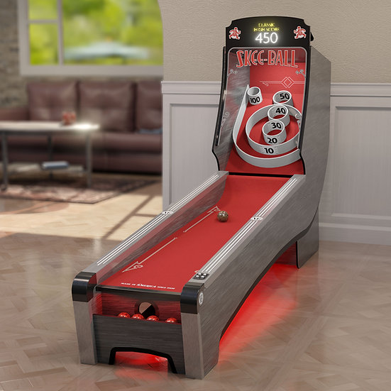 Skee-Ball® Home Arcade Premium with Scarlet Ramp