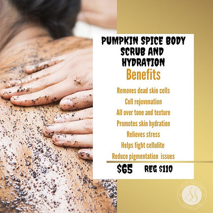 Pumpkin Spice Body Scrub and Infrared Hydration