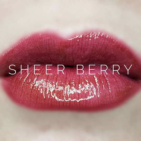 Sheer Berry LipSense® with Glossy Gloss