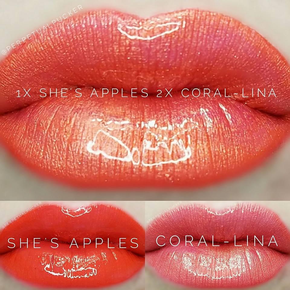 She's Apples & Coral-Lina LipSense® Combo