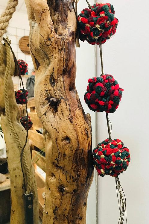 Palline di Natale decorativo in stoffa