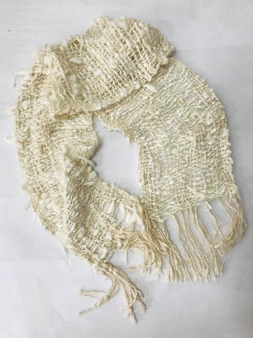 Sciarpa 100% lana filata a mano
