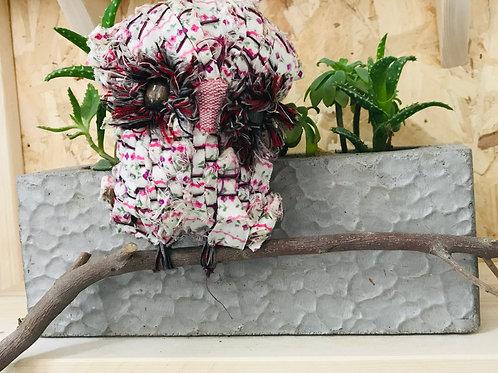 Gufo decorativo in stoffa