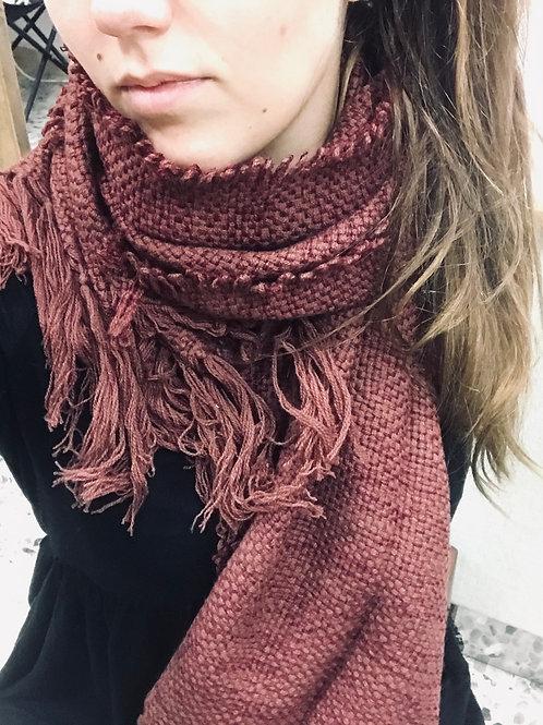 Sciarpa tessuta a telaio 100% lana Cashmere